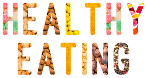 Healthy Eating Concept Isolated Royalty Free Stock Photography