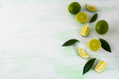 Healthy eating concept with limes and lemons Stock Photo