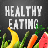 Healthy eating, concept with sample text Royalty Free Stock Photos