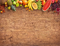 Healthy eating concept. Studio photo of different fruits. royalty free stock photography