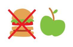 Healthy eating concept vector illustration Stock Photos