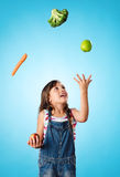 Healthy eating concept with young child Royalty Free Stock Photo