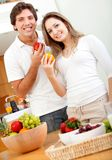 Healthy eating couple Stock Photos