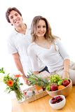Healthy eating couple Royalty Free Stock Photo