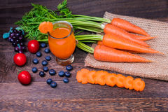 Healthy eating and dieting concept,fresh carrot Royalty Free Stock Photography