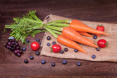 Healthy eating and dieting concept,fresh carrot  or organic heal Stock Photos