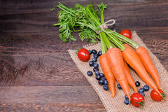 Healthy eating and dieting concept,fresh carrot  or organic heal Stock Image