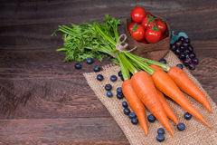 Healthy eating and dieting concept,fresh carrot  or organic heal Royalty Free Stock Images