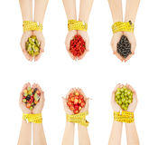 Healthy eating, dieting, vegetarian food and people concept - cl Stock Photo