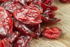 Healthy eating dried cranberries. Diet food. Stock Photography