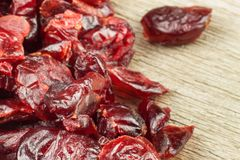 Healthy eating dried cranberries. Diet food. Stock Photo