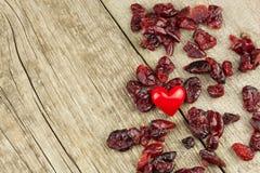 Healthy eating dried cranberries. Diet food. Stock Image