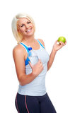 Healthy eating exercise Stock Images