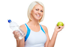 Healthy eating exercise Stock Image