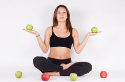 Healthy eating and exercise Stock Image