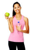 Healthy eating fit woman Stock Photography