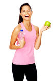 Healthy eating fit woman Stock Images