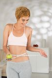 Healthy eating and fitness concept Royalty Free Stock Photos