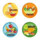 Healthy eating flat icon Stock Images