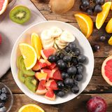 Healthy eating, fresh fruits stock photography