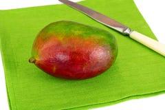 Healthy eating: Fresh juicy fruit, ripe Mango. Stock Photo