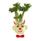 Healthy eating. Funny face made of vegetables and fruits Stock Photos