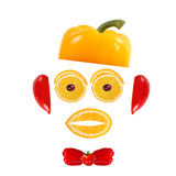 Healthy eating. Funny face made of vegetables and fruits Stock Photo