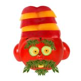 Healthy eating. Funny face made of vegetables and fruits Stock Photography