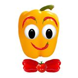 Healthy eating. Funny face made of vegetables and fruits with op Royalty Free Stock Images