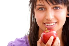 Healthy eating girl Stock Photography