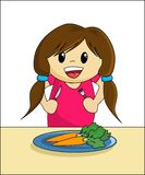 Healthy Eating - Girl Royalty Free Stock Photography