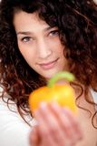 Healthy eating girl Stock Images