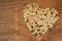 Healthy eating granola cereal with nuts and fruit Stock Images