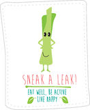 Healthy eating illustration based on simple fold style character Stock Photography