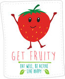 Healthy eating illustration based on simple fold style character Royalty Free Stock Images