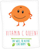 Healthy eating illustration based on simple fold style character Royalty Free Stock Photography