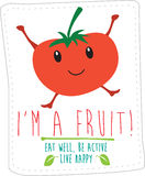 Healthy eating illustration based on simple fold style character Stock Photo
