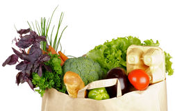 Healthy Eating In Shopping Bag Royalty Free Stock Images