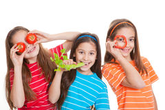 Healthy eating kids concept