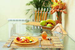 Healthy eating, kitchen interior Stock Photography