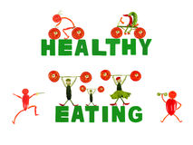 Healthy eating. Little funny people made of vegetables Royalty Free Stock Image