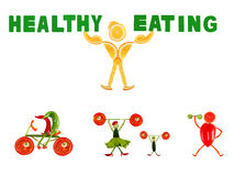 Healthy eating. Little funny people Stock Image