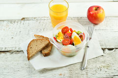 Healthy eating for lunch to work. Food in the office Stock Image