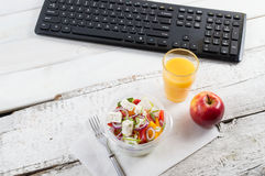 Healthy eating for lunch to work. Food in the office Stock Photo