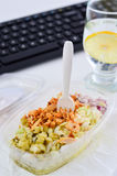 Healthy eating for lunch to work. Food in the office Royalty Free Stock Image