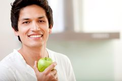 Healthy eating man Royalty Free Stock Image