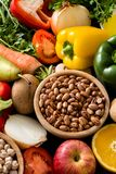 Healthy eating. Mediterranean diet. Fruit and vegetables stock photography
