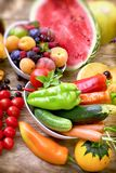 Healthy eating, nutrition is based on a variety of fruits and vegetables Stock Photography