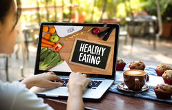 HEALTHY EATING Nutritious Eat Food Healthy Natural Fresh green n. Atural Royalty Free Stock Photos