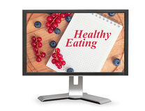 Healthy eating online Royalty Free Stock Images